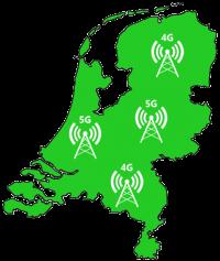 KPN netwerkkaart