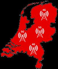 Vodafone netwerkkaart